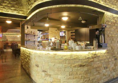Stone bar nook at restaurant