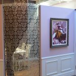 Damask glass wall at perio clinic