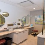 Contact lens station at eye clinic