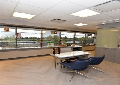 Open concept eyewear dispensary with natural lighting