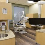 Dental operatory with hardwood floors