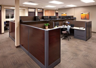 Custom wooden office cubicles