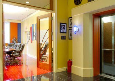 Double doors leading into boardroom