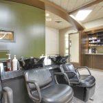 Hair washing station at hair salon