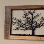 Custom wooden wall art of tree