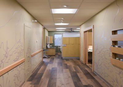 Dental clinic mural hallway