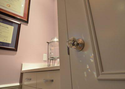Crystal door knob at perio clinic