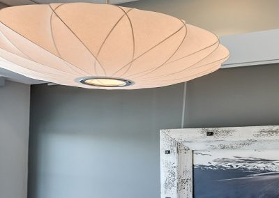 Modern light fixture creating soft lighting