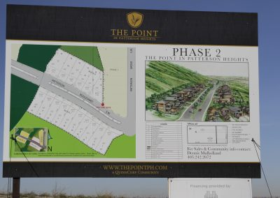 Sign on lot featuring phase 2 available with information on the lot