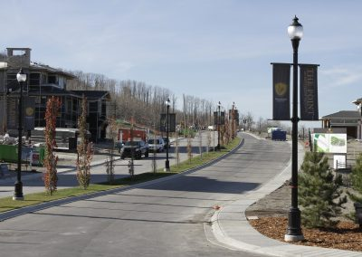 Main road leading up to new houses being built