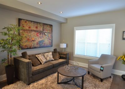 Small living room area in new showroom