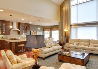 Family room seating area
