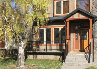 Newly renovated inner city infill with yard and large tree