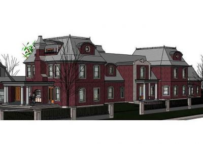 Victorian styled estate designed by revit technology