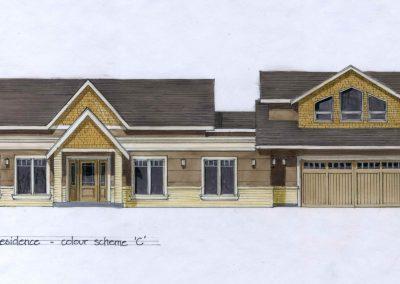 Sketch of exterior custom home renovation