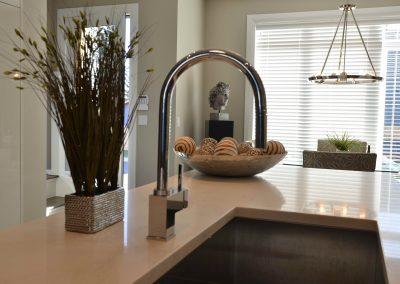 Modern kitchen design with deep kitchen sink