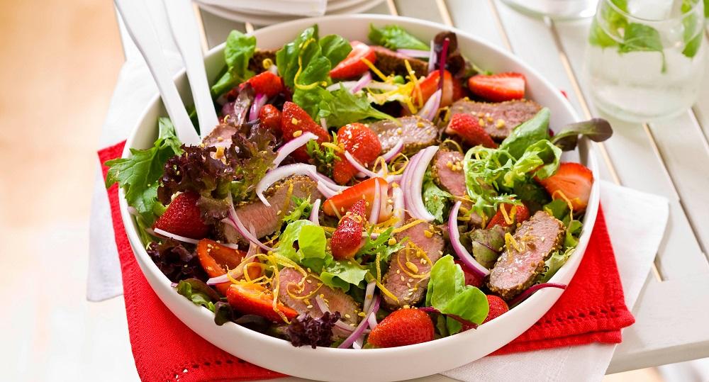 Strawberry Pork Salad