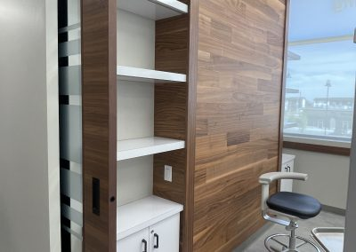 operatory wall storage and feature wall