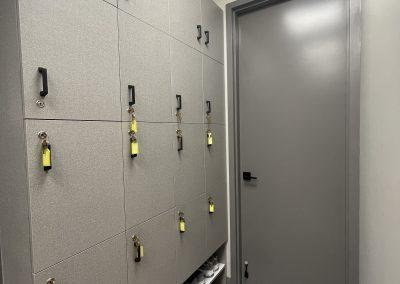 efficient staff locker area